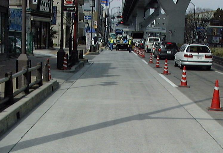 コンクリート舗装のわだち掘れ補修