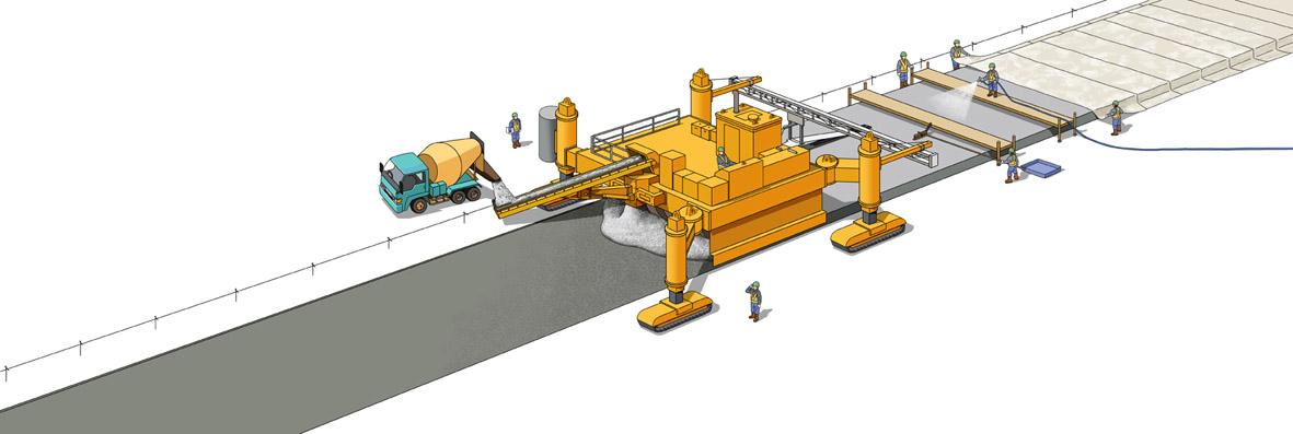 普通コンクリート舗装、連続鉄筋コンクリート舗装、コンクリート薄層オーバーレイ工法、新幹線路盤コンクリート、コンクリート構造物など